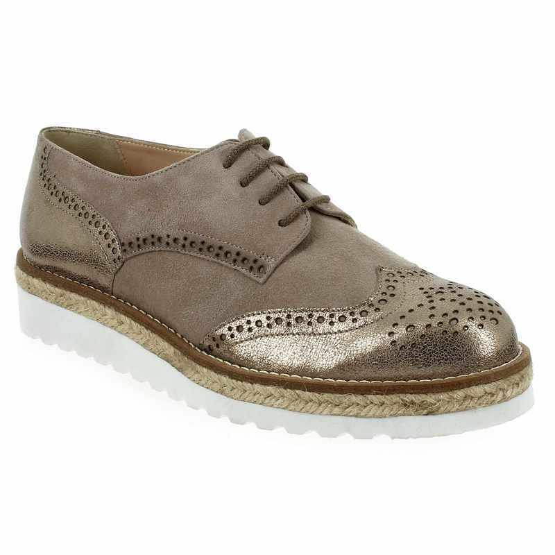 Derbies et Richelieus Femme Janie Philip en Cuir velours Marron