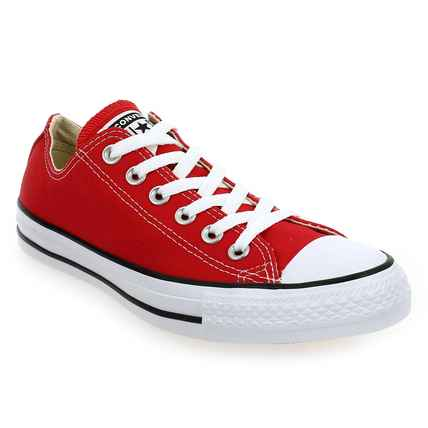 Chaussure Converse modèle ALL STAR OX, Rouge - vue 0