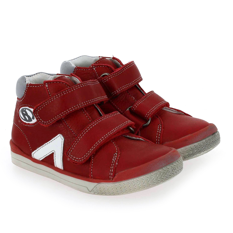 Chaussure Babybotte B3 VELCRO rouge couleur Rouge - vue 0