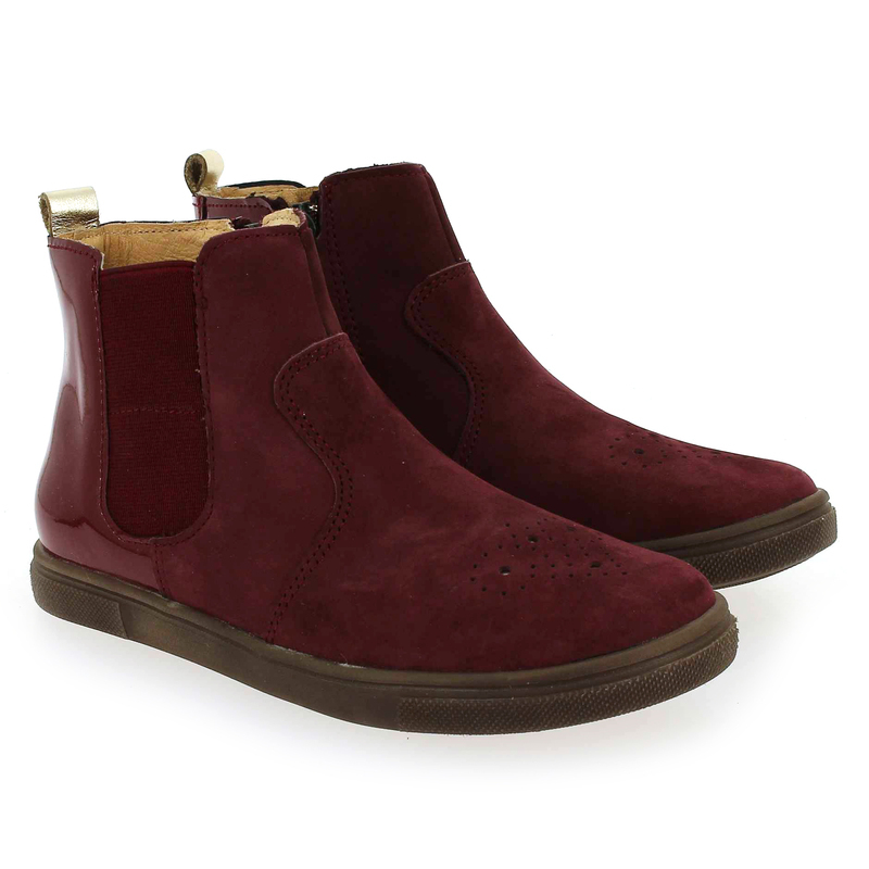 Chaussure Babybotte KARNABY rouge couleur Bordeaux - vue 0