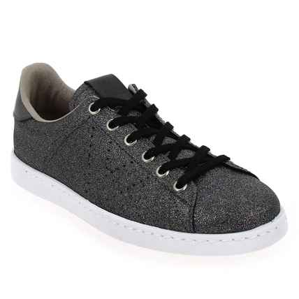 Chaussure Victoria modèle DEPORTIVO GLITTER, Anthracite - vue 0