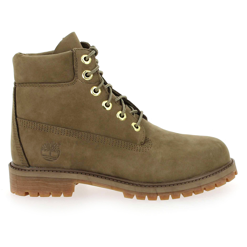 Chaussure Timberland 6IN PREMIUM WP BOOT gris couleur Taupe - vue 1
