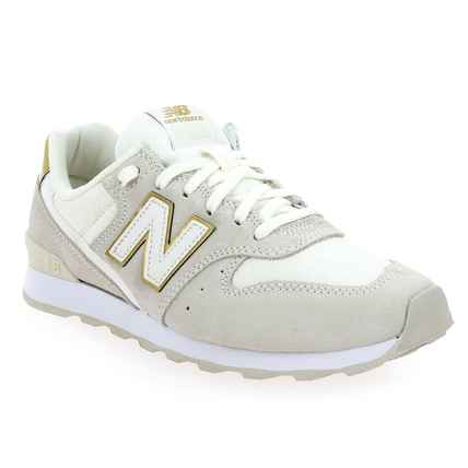Chaussure New Balance modèle WR996, Blanc Or  - vue 0