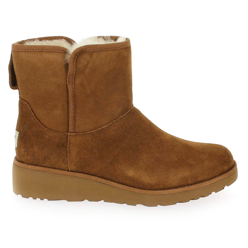 Velours 5617401 Ugg Pour Kristin Camel Femme Chaussure Australia Boots Cuir wIq1nvdzxd