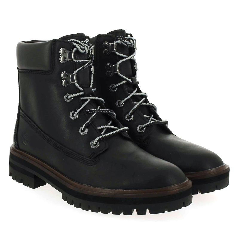 Bo London 6in Cuir Chaussure Femme Noir 5619301 Bottines Timberland Square Pour w5tqIv