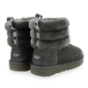 Chaussure UGG modèle FLUFF MINI QUILTED, Gris - vue 3