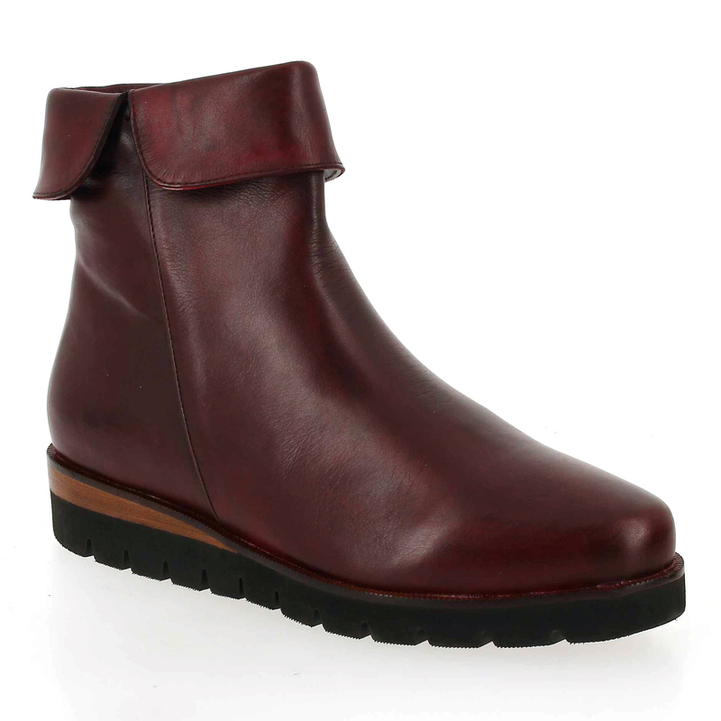 75898 Boots Femme Rouge Cuir Pour Everybody 5634302 Chaussure RCaxY5qFwn