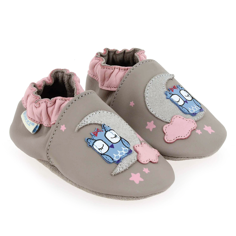 Chaussure Robeez NATURAL WAY gris couleur Taupe Rose - vue 0