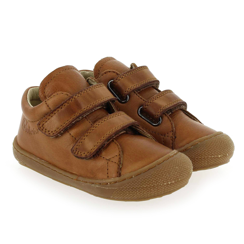 Chaussure Falcotto by Naturino COCOON VELCRO camel couleur Cognac - vue 0