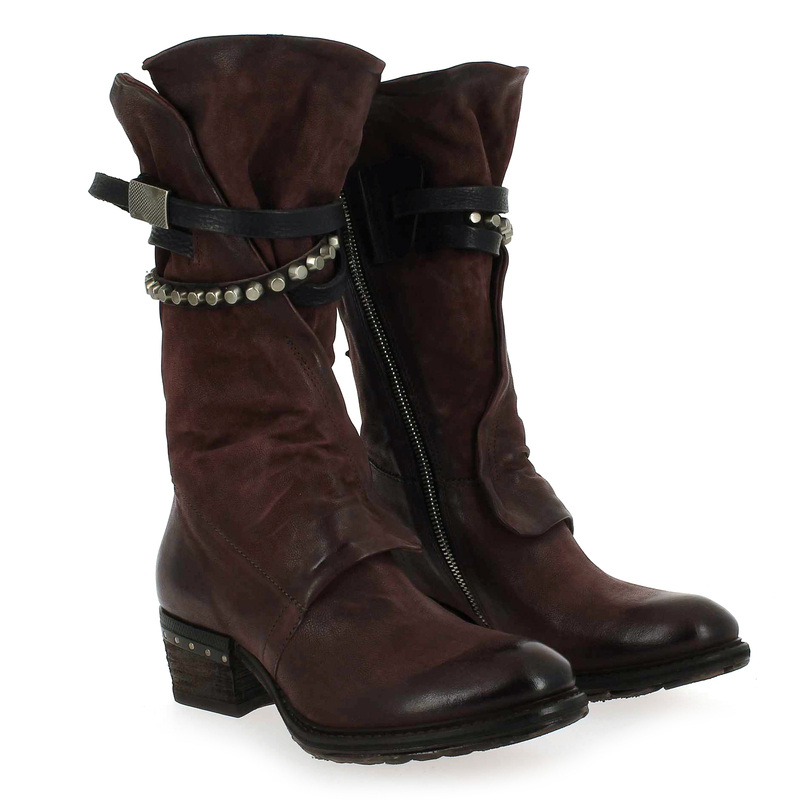 Chaussure As98 Cuir Pour Bottes Rouge 239304 Femme Airstep 5673102 C4vwHnrCU