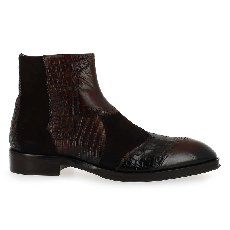 1276 Marron Velours Cuir Homme 814 Ghost Pour Cuir 5704401 Jo Chaussure Boots HwZg11