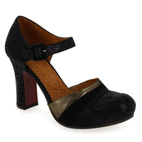 Chaussure Chie Mihara modèle DELUXE, Noir Or - vue 0