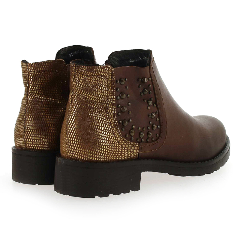 Carina Boots Abricot Chaussure 5721902 Camel amp; Cuir Coco Pour Femme Aqxtavg