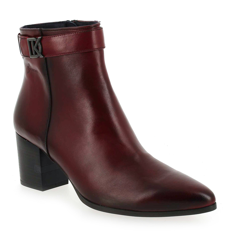 Lesly Femme 5726401 Dorking Boots Pour Rouge 7698 Cuir Chaussure Yw1faxf