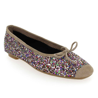 Chaussure Reqins modèle HARMONY GLITTER, Brillant Taupe - vue 0