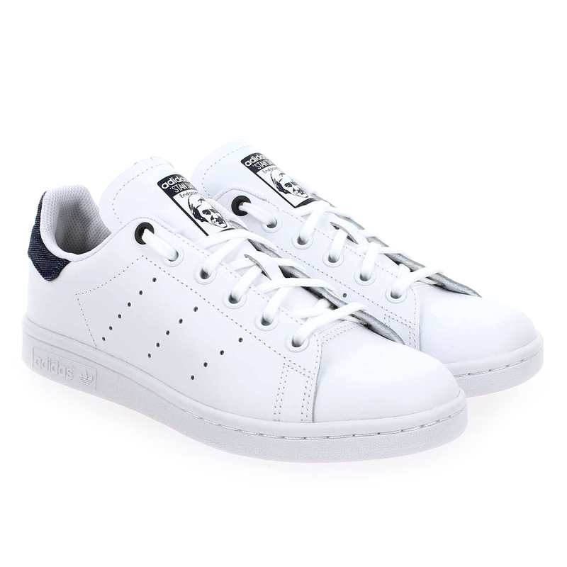 Chaussure Adidas Originals STAN SMITH J blanc couleur Blanc - vue 0