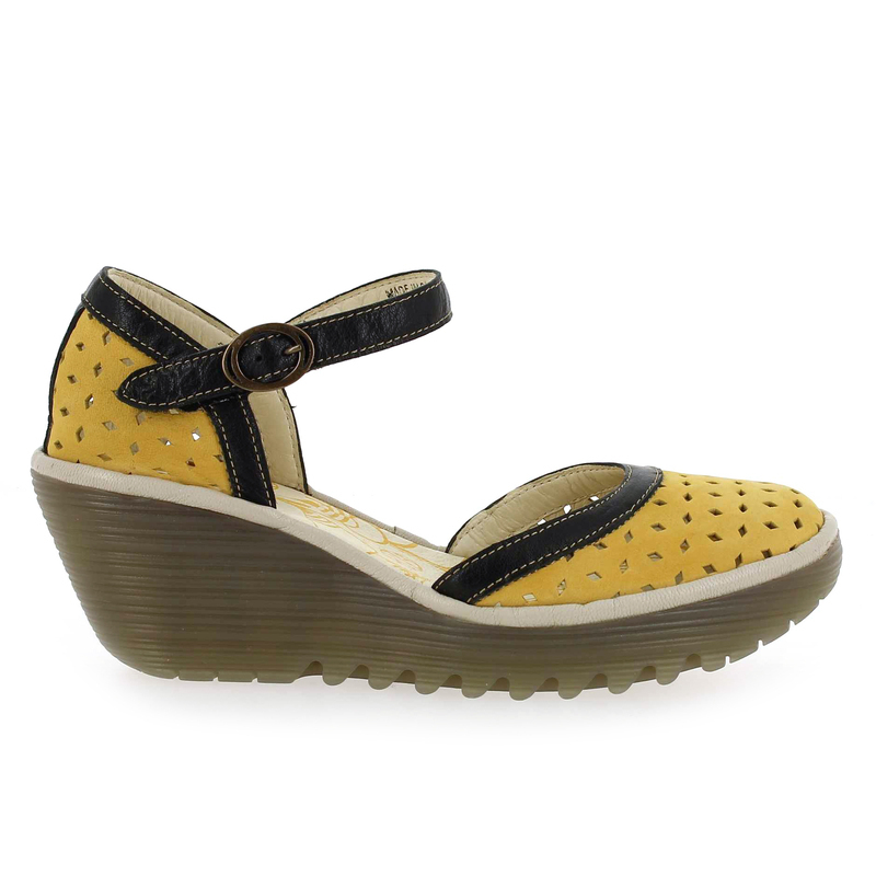 Chaussure Fly London YVEN jaune couleur jaune - vue 1