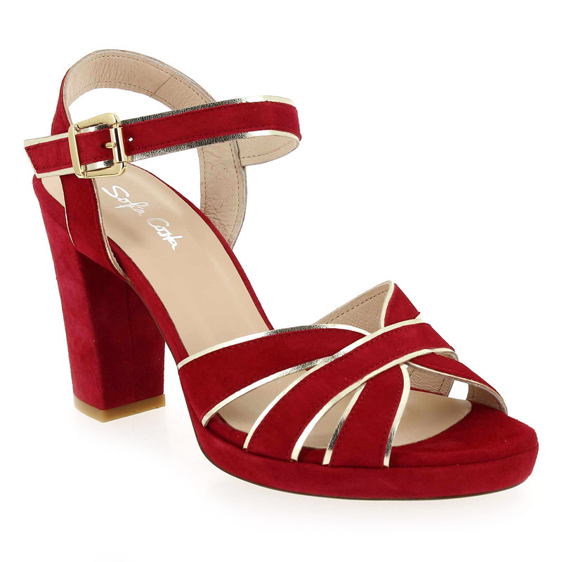 Chaussure L costa 5883 rouge Femme solde