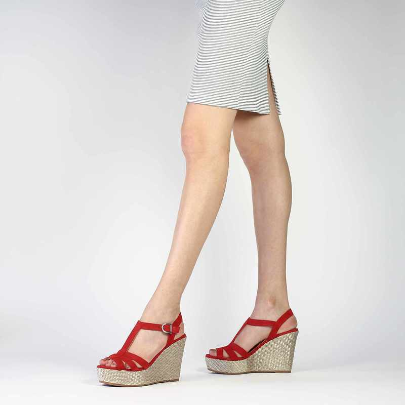 Chaussure Unisa MACA rouge couleur Rouge - vue 0