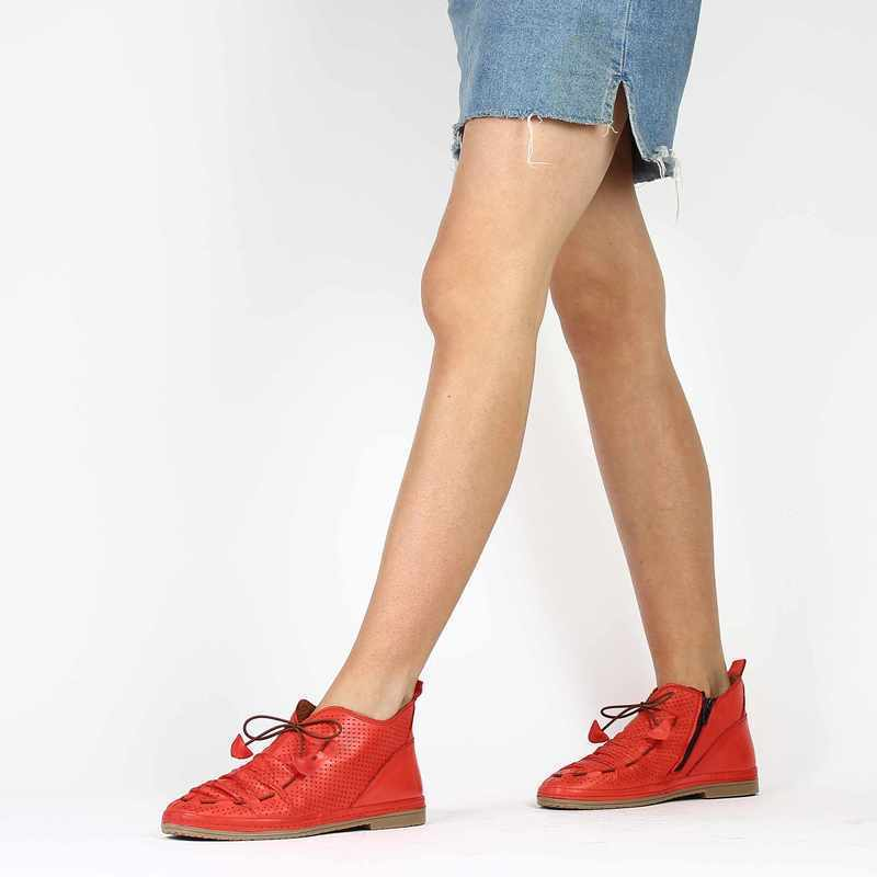 Chaussure Coco & Abricot v1208a rouge couleur rouge - vue 0