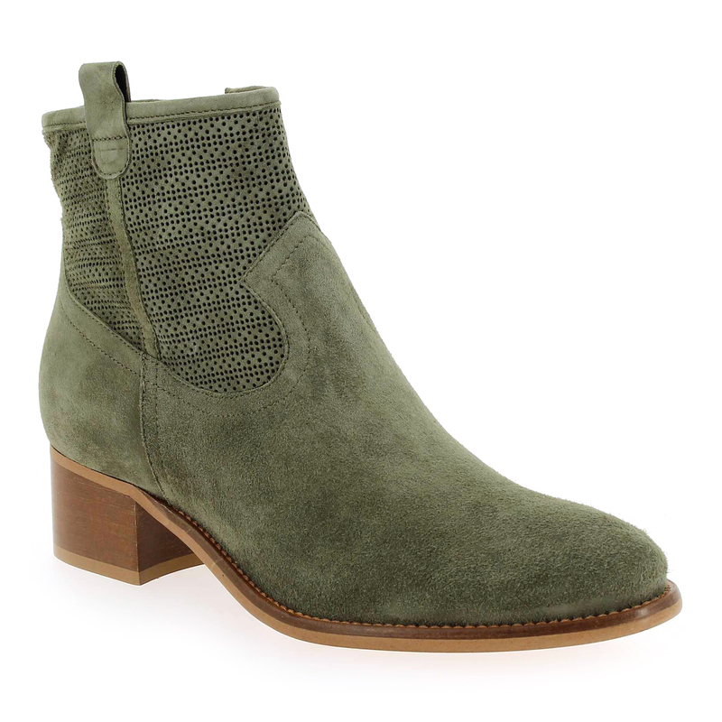 3013 5867901 Chaussure Velours Myma Pour Vert Boots Femme Cuir Hgq5w5