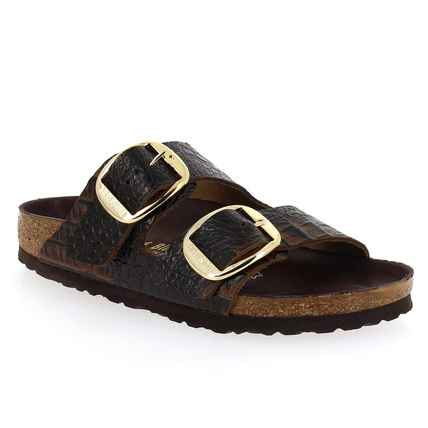 Chaussure Birkenstock modèle ARIZONA BIG BUCKLE, Marron croco - vue 0