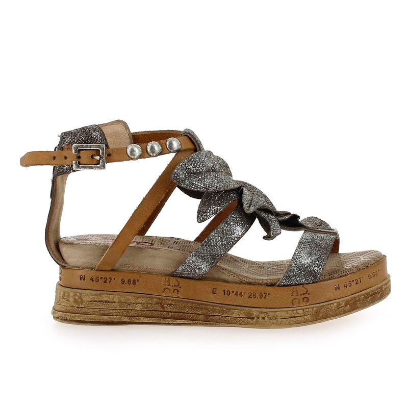 Chaussure AS98 - Airstep 692008 argent couleur argent camel - vue 1