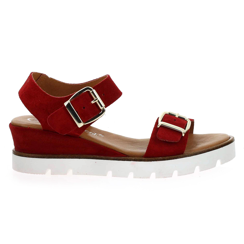 Chaussure Coco & Abricot V1221A rouge couleur rouge - vue 1