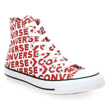 Chaussure Converse modèle CHUCK TAYLOR ALL STAR , rouge blanc - vue 0