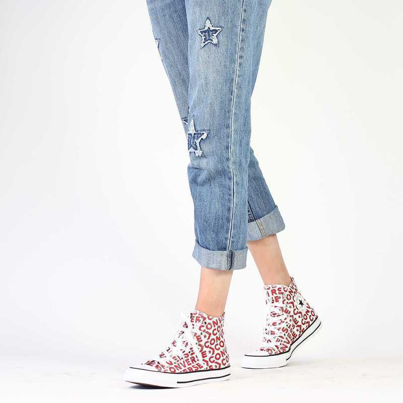 Chaussure Converse CHUCK TAYLOR ALL STAR  rouge couleur rouge blanc - vue 0