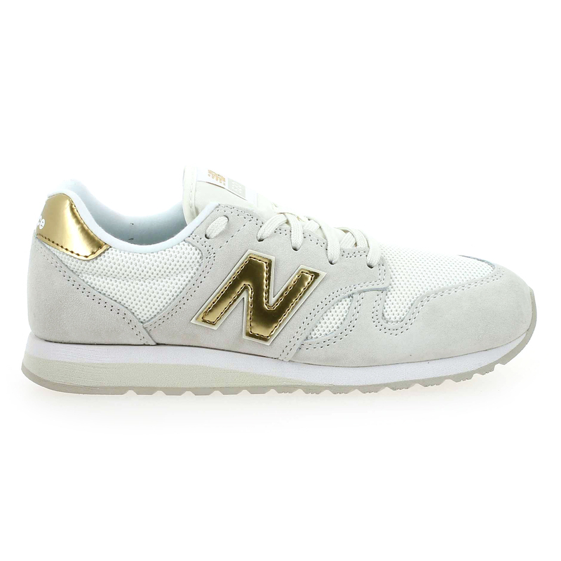 14a89393bbcbf Chaussure New Balance WL520 blanc couleur Blanc Or - vue 1