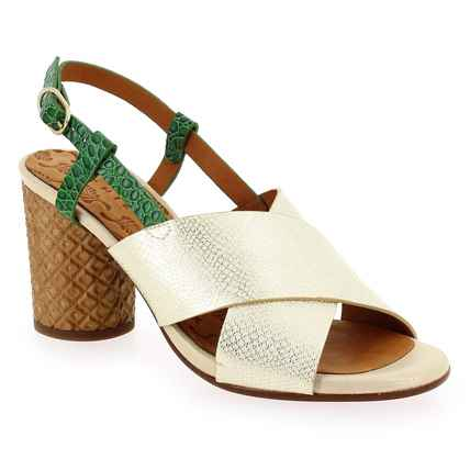 Chaussure Chie Mihara modèle GILES, Or Vert  - vue 0