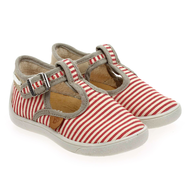 Chaussure Babybotte MARIN rouge couleur Rouge Taupe - vue 0