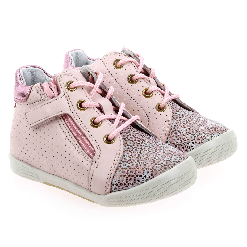 Chaussure Babybotte FAKIRA  rose couleur Rose pastel - vue 0