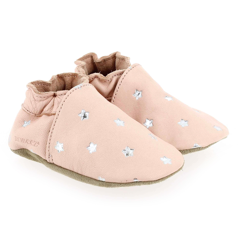 Chaussure Robeez DRESSY ROSE ETOILES rose couleur Rose pastel  - vue 0