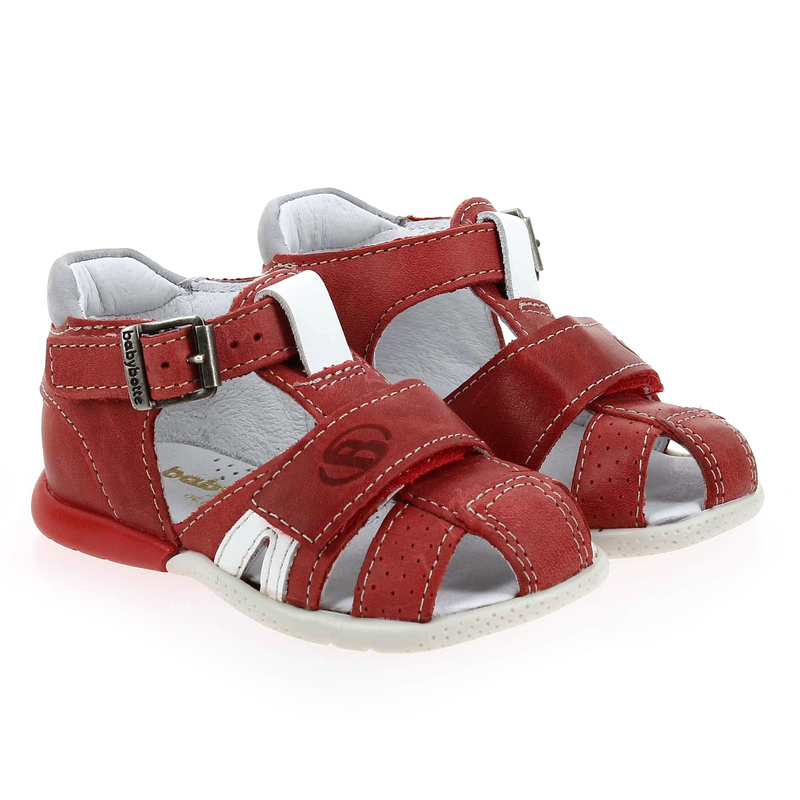 Chaussure Babybotte GULLI rouge couleur Rouge Blanc - vue 0