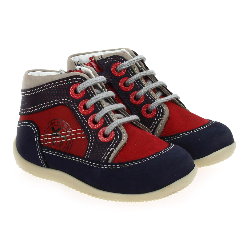 Chaussure Kickers biboy rouge couleur rouge - vue 0