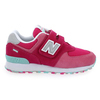 Chaussure New Balance modèle YV574, rose - vue 1