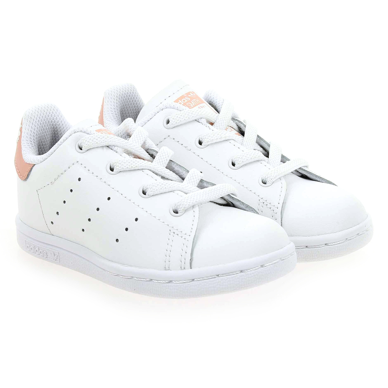 Chaussure Adidas Originals STAN SMITH EL blanc couleur Blanc Rose - vue 0