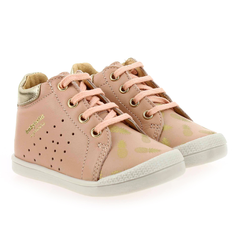 Chaussure Babybotte FASTY rose couleur Rose pastel Or - vue 0