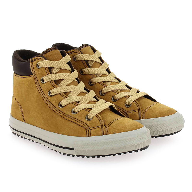 Chaussure Converse CTAS PC BOOTS SUEDE LEATHER ON MARS camel couleur Camel - vue 0