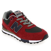 Chaussure New Balance modèle 574 M FND NFO, Rouge Anthracite - vue 0