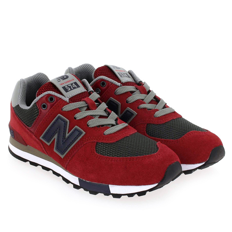 Chaussure New Balance 574 M FND NFO rouge couleur Rouge Anthracite - vue 0
