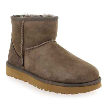 Chaussure UGG modèle CLASSIC MINI 2, Taupe - vue 0