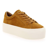 Chaussure No Name modèle SPICE SNEAKER GOAT SUEDE, Moutarde - vue 0