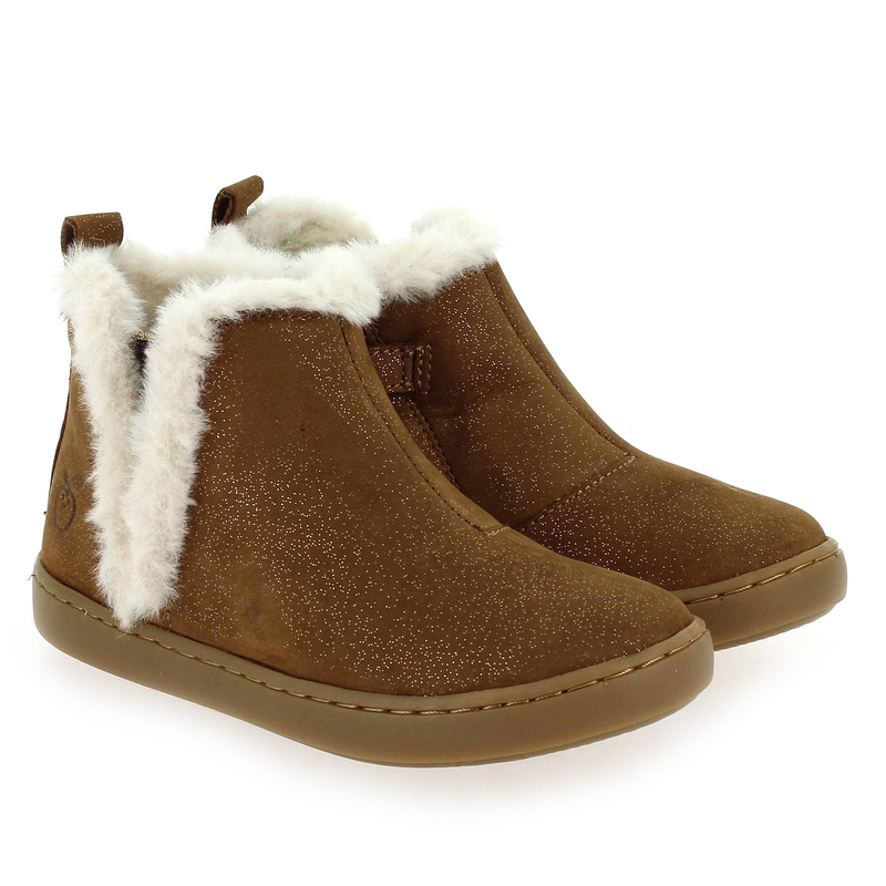 Chaussure Shoopom PLAY YETI camel couleur Camel Blanc - vue 0