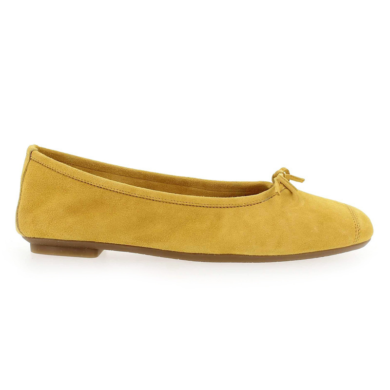 Chaussure Reqins HARMONY PEAU jaune couleur Moutarde - vue 1