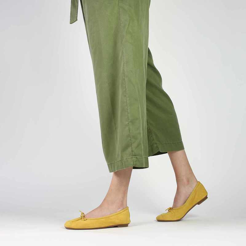 Chaussure Reqins HARMONY PEAU jaune couleur Moutarde - vue 0