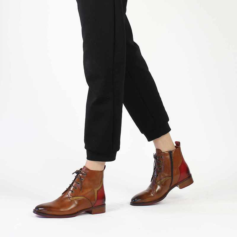 Chaussure Everybody 58595 camel couleur Cognac Rouge - vue 0