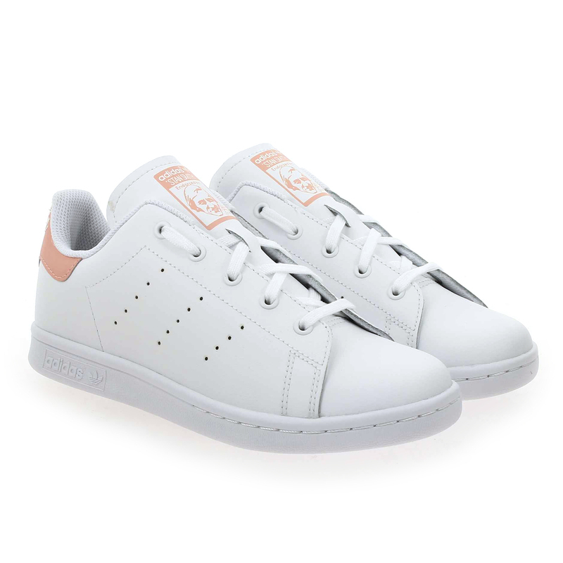 Chaussure Adidas Originals STAN SMITH C blanc couleur Blanc Rose - vue 0